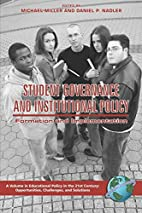 Student Governance and Institutional Policy:…