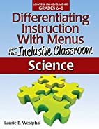 Differentiating Instruction with Menus for…