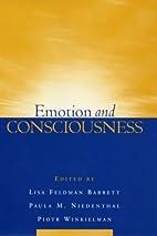 Emotion and Consciousness by Lisa Feldman…