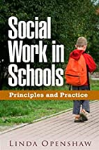 Social Work in Schools: Principles and…