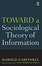 Toward a Sociological Theory of Information…