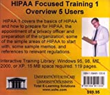 Farb, Daniel: Hipaa Focused Training 1 Overview, 5 Users