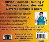 Farb, Daniel: Hipaa Fucused Training 2: Business Associates And Covered Entitites, 5 Users