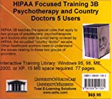 Farb, Daniel: Hipaa Focused Training 3b: Psychotherapy And Country Doctors, 5 Users