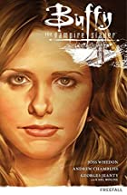 "Cover art for Freefall, featuring a close-up of a blonde white woman (Buffy). A small line drawing of the Golden Gate Bridge appears in the top right hand corner, just under the book""s title."