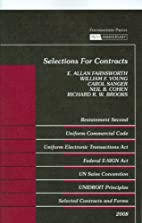Selections For Contracts: Statutes,…