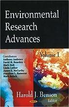 Environmental Research Advances by Harold J.…