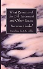 What Remains of the Old Testament and Other…