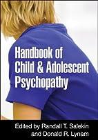 Handbook of Child and Adolescent Psychopathy…