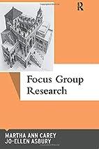 Focus Group Research (Qualitative…