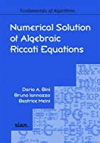 Numerical Solution of Algebraic Riccati…