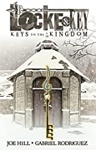 Cover art for Keys to the Kingdom, featuring a key topped with a music note overlying a round, snow-covered building. The cover is in tones of white and grey.