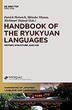 Handbook of the Ryukyuan languages :…