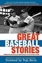 Great Baseball Stories: Ruminations and…