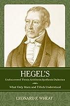Hegel's Undiscovered…