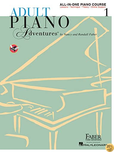TAdult Piano Adventures All-in-One Piano Course Book 1: Book with Media Online