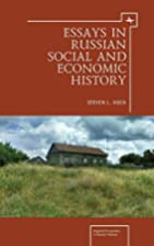 Essays in Russian Social and Economic…