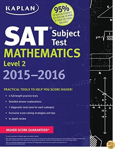 TKaplan SAT Subject Test Mathematics Level 2 2015-2016 (Kaplan Test Prep)