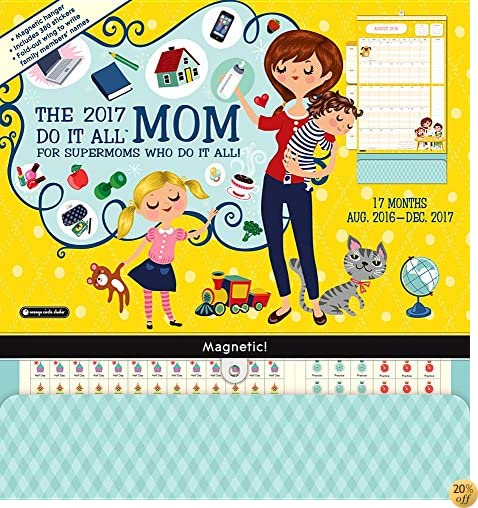 TOrange Circle Studio 17-Month 2017 Do It All Magnetic Wall Calendar, Mom's Do It All (Do It All Wall)