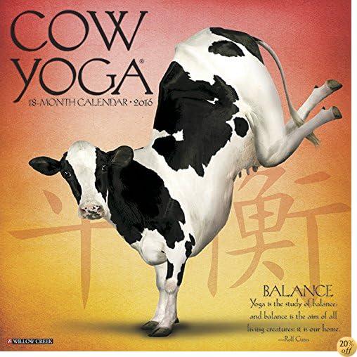 T2016 Cow Yoga Wall Calendar