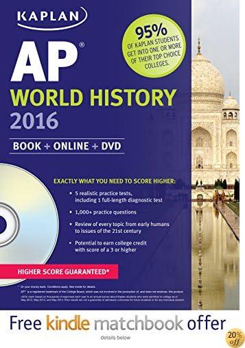 TKaplan AP World History 2016: Book + DVD (Kaplan Test Prep)