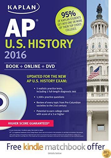 TKaplan AP U.S. History 2016: Book + DVD (Kaplan Test Prep)