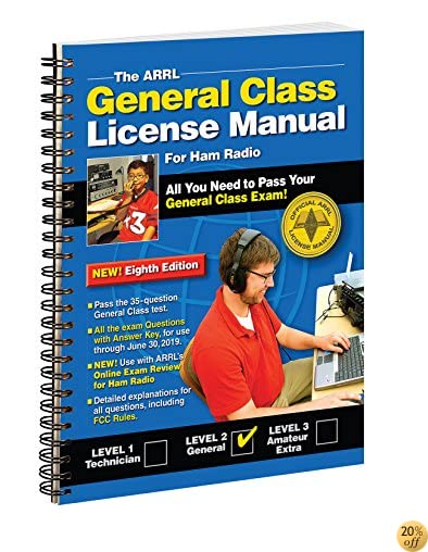 TThe ARRL General Class License Manual Spiral Bound