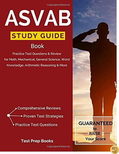 TASVAB Study Guide Book: Practice Test Questions & Review for Math, Mechanical, General Science, Word Knowledge, Arithmetic Reasoning & More