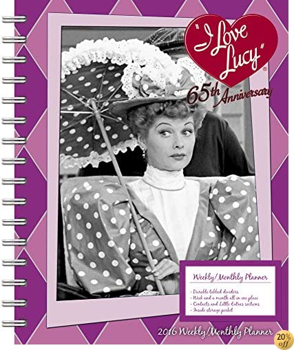 TI Love Lucy Weekly and Monthly Planner (2016)