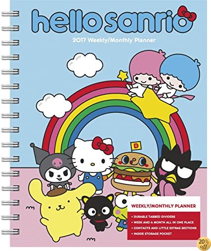 THello Kitty Weekly and Monthly Planner (2017)