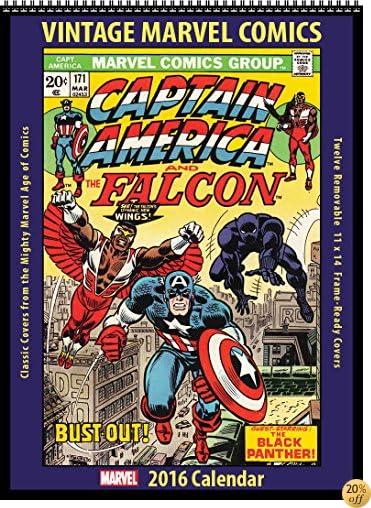 TMarvel Comics 2016 Vintage Calendar