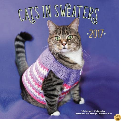 TCats in Sweaters Mini 2017: 16-Month Calendar September 2016 through December 2017