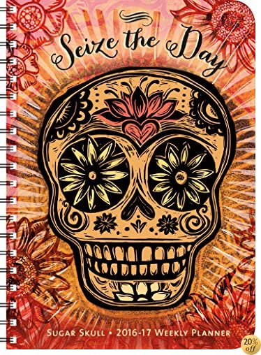 TSugar Skull 2016 – 2017 On-the-Go Weekly Planner: 17-Month Calendar with Pocket