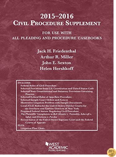TCivil Procedure Supplement, For Use with All Pleading and Procedure Casebooks, 2015-2016 (American Casebook Series)