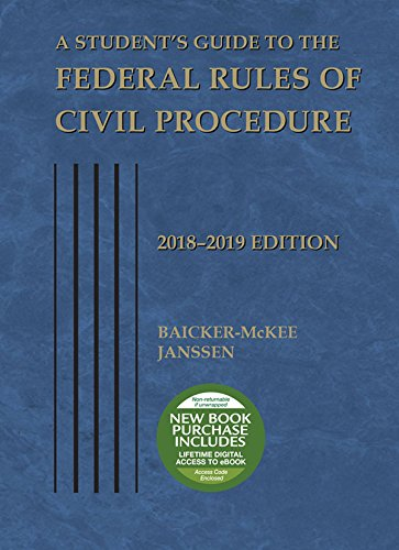 a-students-guide-to-the-federal-rules-of-civil-procedure-2018-2019-selected-statutes