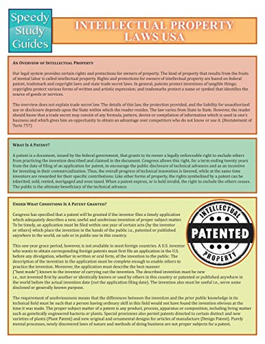 intellectual-property-laws-usa-speedy-study-guide