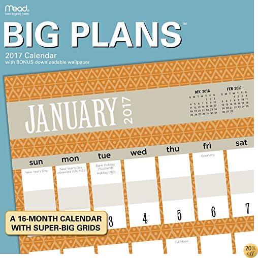 TBig Plans Wall Calendar (2017)