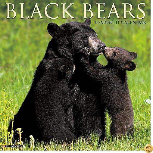 TBlack Bears 2017 Wall Calendar