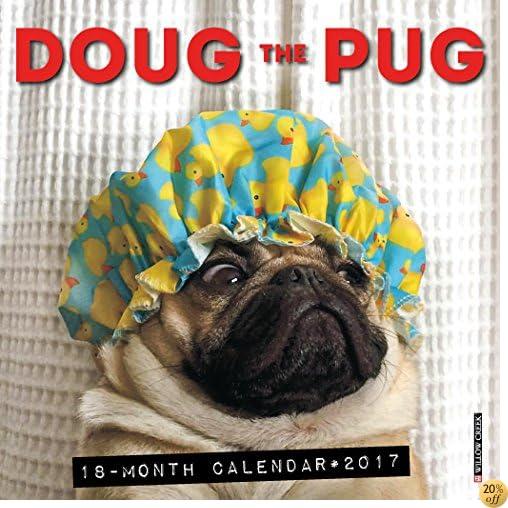 2017 Doug the Pug Mini Wall Calendar