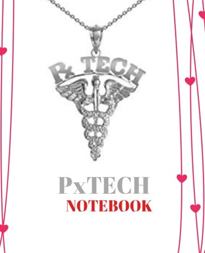 px-tech-not-pharmacy-technician-rx-tech-gift-120-pages-ruled