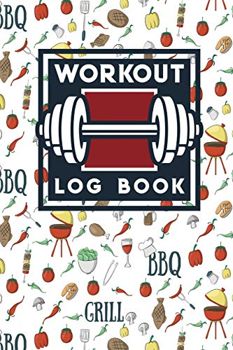 workout-log-book-exercise-log-workout-and-diet-journal-food-and-workout-log-workout-planner-book-cute-bbq-cover-volume-90
