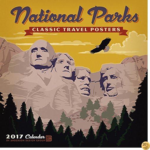 TNational Parks Classic Posters 2017 Wall Calendar