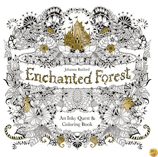TEnchanted Forest: An Inky Quest & Coloring Book