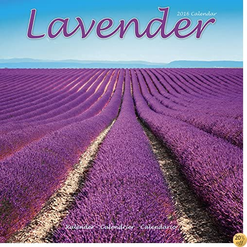 TLavender Calendar - 2016 Wall calendars - Garden Calendars - Flower Calendar - Monthly Wall Calendar by Avonside