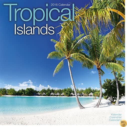 TTropical Islands Calendar - 2016 Wall Calendars - Sunset Calendar - Photo Calendar - Monthly Wall Calendar by Avonside