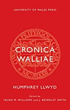 Cronica Walliae by Humphrey Llwyd