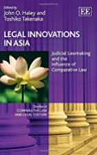 Legal Innovations in Asia: Judicial…