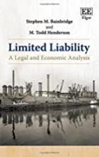 Limited liability : a legal and economic…