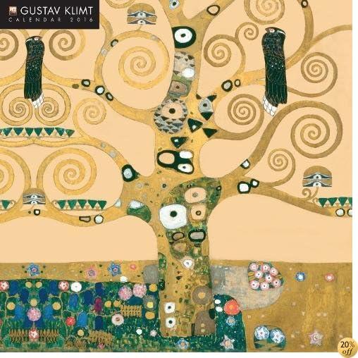 TGustav Klimt 2016 Square 12x12 (Glitter Cover) Flame Tree