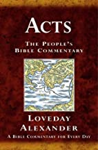 Acts by Loveday Alexander